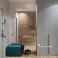 Интерьер квартиры 80 м.кв.: Коридор и прихожая в . Автор – Частный дизайнер Анна Прыгунова, Лофт