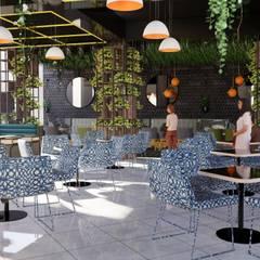 Cafe shimla:  Bars & clubs by reveuselabs,Modern