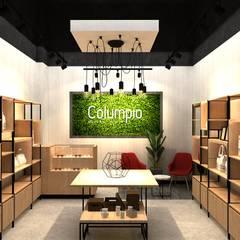 Columpio concept store (EN CONSTRUCCION): Espacios comerciales de estilo  por AUTANA estudio, Moderno Aglomerado