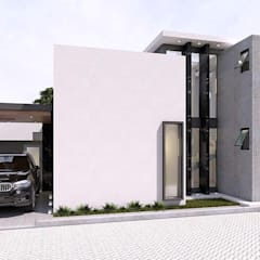 Дома на одну семью в . Автор – ESTUDIO COOPER ARQUITECTOS, Минимализм Бетон