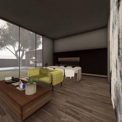 دار الرضوان Dar Al Ridwan:  غرفة المعيشة تنفيذ Anastomosis Design Lab, تبسيطي