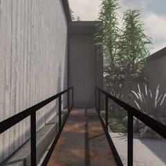 Minimalist corridor, hallway & stairs by Anastomosis Design Lab Minimalist