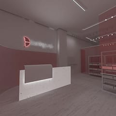Commercial Spaces by Anastomosis Design Lab, Minimalist