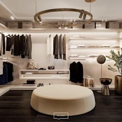 Modern dressing room by Inception Design Cell Modern