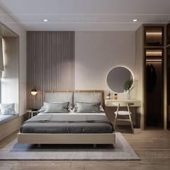 غرفة نوم تنفيذ ICON INTERIOR , تبسيطي