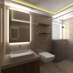 3bhk residence, Nerul Sector 27 Modern bathroom by SPACE DESIGN STUDIOS Modern