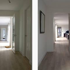 patiobungalow // Zeewolde Moderne gangen, hallen & trappenhuizen van Studio FLORIS Modern Massief hout Bont