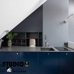 Eleganckie studio na poddaszu - zdjęcia z realizacji projektu od MIKOŁAJSKAstudio Nowoczesny