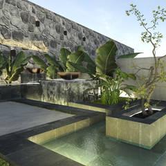 บ่อน้ำในสวน โดย Saif Mourad Creations, โมเดิร์น