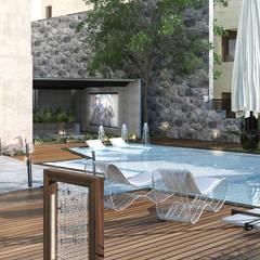 Kolam renang halaman oleh Saif Mourad Creations, Modern