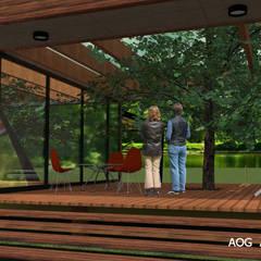 AOG의  목조 주택, 지중해 엔지니어드 우드 투명