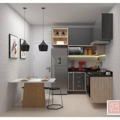 Cocinas pequeñas de estilo  por Arty Arquitetura, Industrial Tablero DM