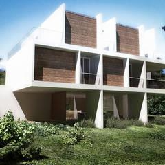 Дома на одну семью в . Автор – RRA Arquitectura, Минимализм Дерево Эффект древесины