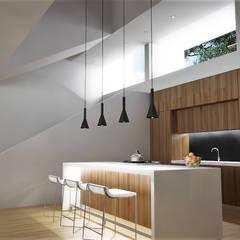 : Cocinas de estilo  por RRA Arquitectura, Minimalista Madera Acabado en madera