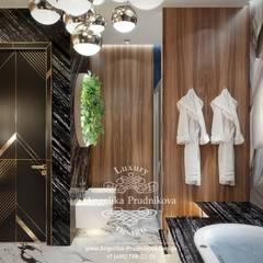 Дизайн-проект интерьера ванной комнаты в стиле фьюжн: Ванные комнаты в . Автор – Дизайн-студия элитных интерьеров Анжелики Прудниковой, Модерн
