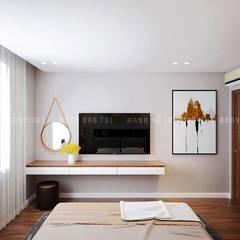 غرف نوم صغيرة تنفيذ Công ty TNHH Nội Thất Mạnh Hệ, إسكندينافي خشب Wood effect