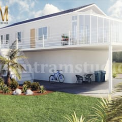 كوخ تنفيذ Yantram Architectural Design Studio, حداثي