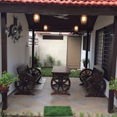 Garden Shed by URBTEC ENGINEERING CONSTRUCTION PVT LTD, Rustic Tiles