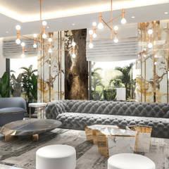 Villa interior design   Terencia , Uptown Cairo Modern Living Room by Saif Mourad Creations Modern