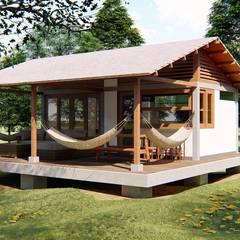 PPC-SCDM1: Cabañas de madera de estilo  por jemaal arquitectos, Rústico Madera Acabado en madera