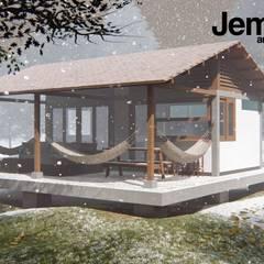 كوخ تنفيذ jemaal arquitectos , ريفي خشب نقي  Multicolored