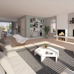 WONING Moderne woonkamers van PHY interior design Modern
