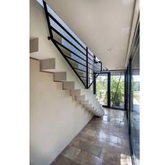 CASA OT: Pasillos y recibidores de estilo  por Speziale Linares arquitectos,Moderno