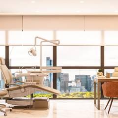 Clinics by Camila Pimenta   Arquitetura + Interiores, Modern Wood Wood effect