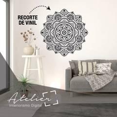Cuadros canvas y viniles decorativos: Restaurantes de estilo  por Atelier, Interiorismo digital, Moderno