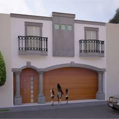 FACHADA CLASICA COLONIAL: Casas de estilo  por HHRG ARQUITECTOS, Clásico
