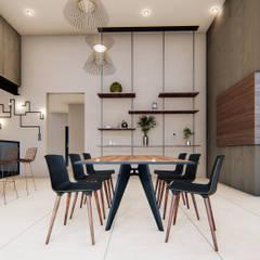 Comedores de estilo moderno de AMÁNDALA PERUSQUÍA Moderno Madera Acabado en madera