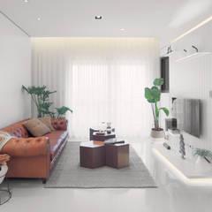Salas de estilo escandinavo de 衍相室內裝修設計有限公司 Escandinavo