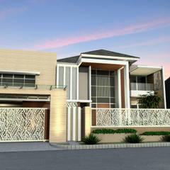 Kupang Indah Residential: Rumah tinggal  oleh Crea architect, Minimalis Batu Bata