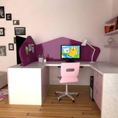Kız Çocuk Odası Projesi KALYA İÇ MİMARLIK \ KALYA INTERIOR DESIGN Modern Ahşap Ahşap rengi