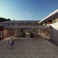 Centro de Retiro Budista e SPA Ayurvédico Hotéis modernos por LOFT Studio Arquitetura Moderno