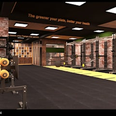Gym by Inception Design Cell, Rustic Wood Wood effect
