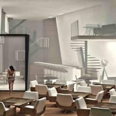 【民宿】墾丁天海民宿:  飯店 by 亚卡默设计 Akuma Design , 現代風 水泥