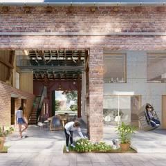 Многоквартирные дома в . Автор – XAI Bauplanung GmbH, Рустикальный