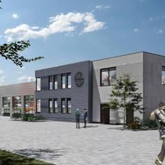 FEUERWEHR ELDAGSEN:  Bürogebäude von XAI Bauplanung GmbH,Modern