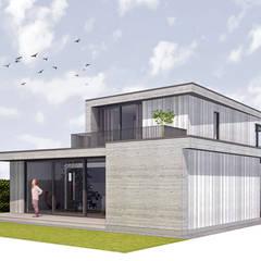 Vrijstaand woonhuis, Dordrecht:  Passiefhuis door Trae Architect, Modern Hout Hout