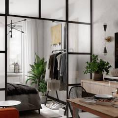 Small bedroom by Студия NATALYA SOLNTSEVA Interiors Design, Industrial Concrete