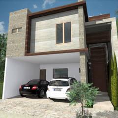 Casas pequeñas de estilo  por Del Rio Arquitectos , Minimalista Hormigón