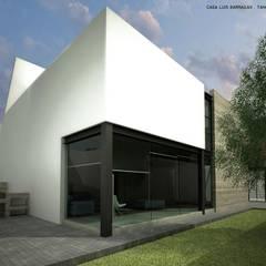 Casas pequeñas de estilo  por ARQUITECTOS DELGADILLO , Minimalista Hormigón