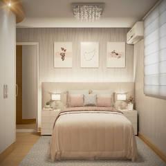 Projekty,  Małe sypialnie zaprojektowane przez Laura Santa Maria Arquitetura, Klasyczny