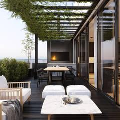 Balcón de estilo  por SF Render, Moderno