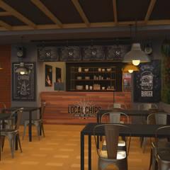 Diseño de Restaurante : Espacios comerciales de estilo  por Pragma - Diseño, Industrial