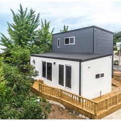 Casas de madera de estilo  por 공간제작소(주), Minimalista