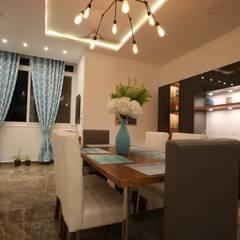 ห้องทานข้าว โดย Enrich Interiors & Decors, โมเดิร์น