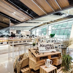Gastronomy by 亚卡默设计 Akuma Design , Rustic Wood Wood effect