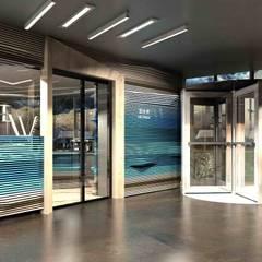【商業空間】Club W與CAFE W上海中心店 根據 亚卡默设计 Akuma Design 現代風 實木 Multicolored